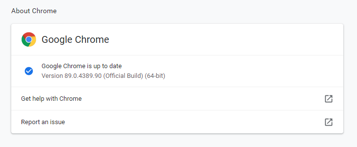 how to check google chrome version